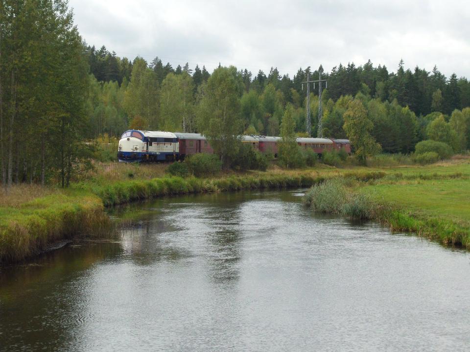 Free Tourist train outside in Sweden