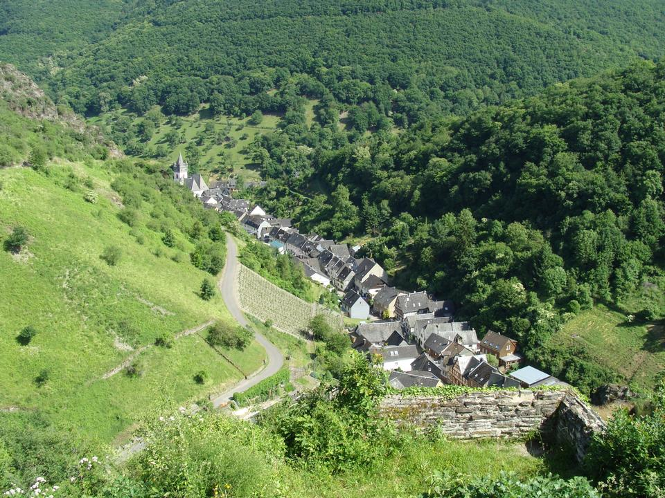 Free Landscape of mountain village in Germany