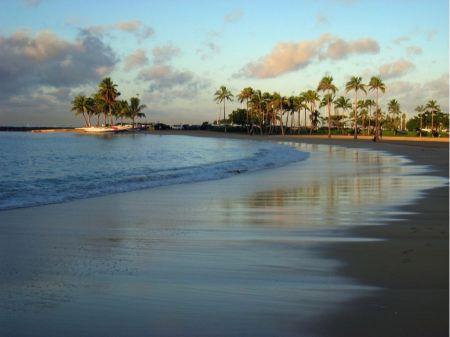 Free Hawaii Waikiki Beach Sunset