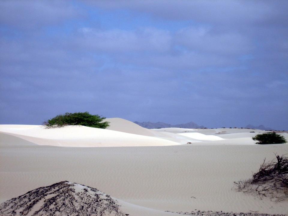 Free sand desert Viana on the island of Boa Vista, Cape Verde