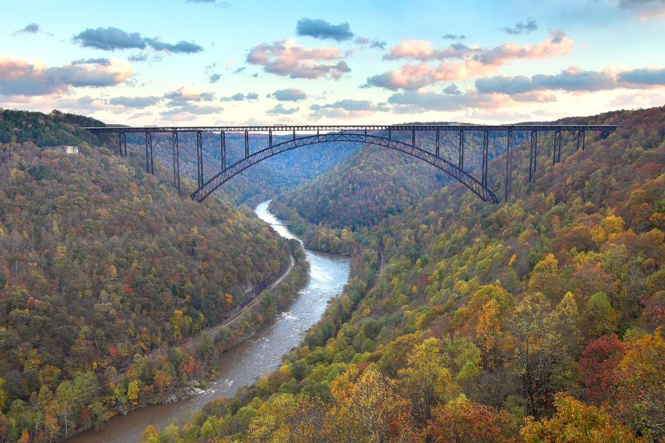 Free The New River Gorge Bridge with fall colors WV