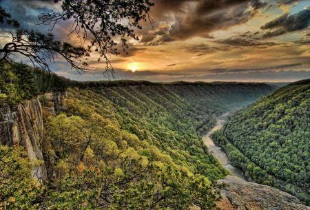 Free Diamond Point Sunrise New River Gorge National River