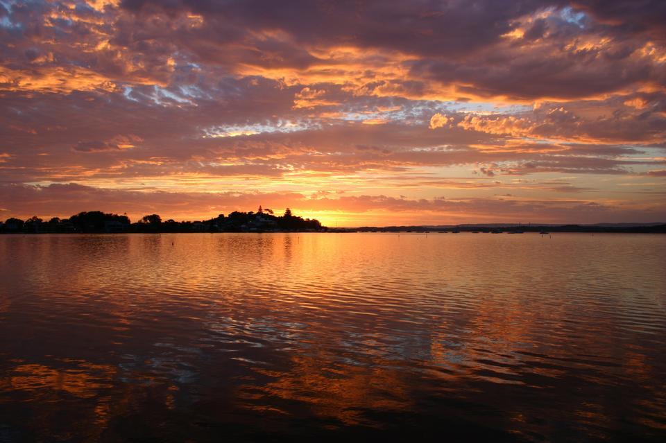 Free Beautiful Sunset  Lake Macquarie