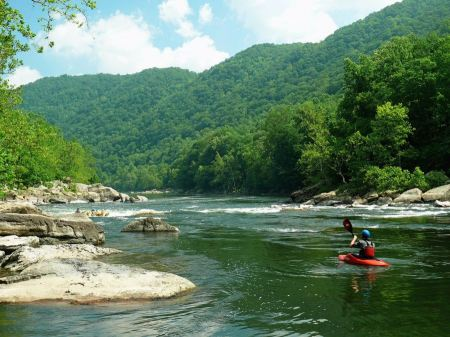 Free Rafting New River In West Virginia