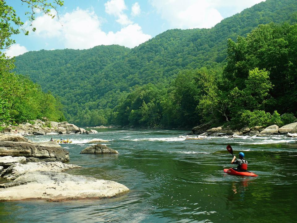 Free Rafting New River In West Virginia