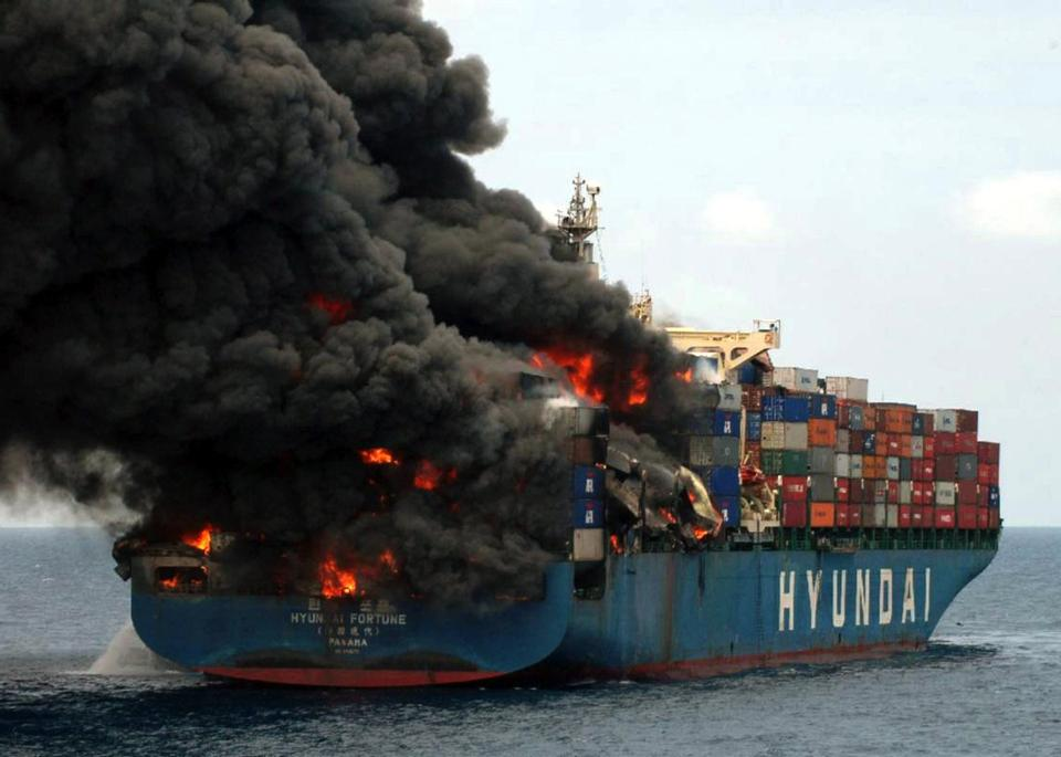 Free Container Ship Wrecks and Fires