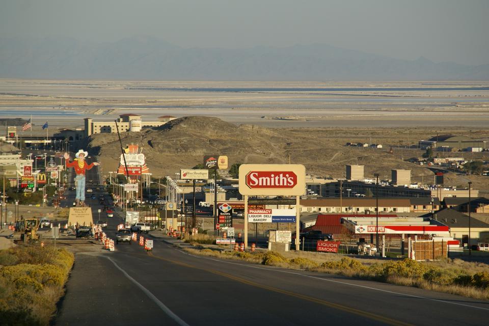 Free Wendover Boulevard in West Wendover, Nevada