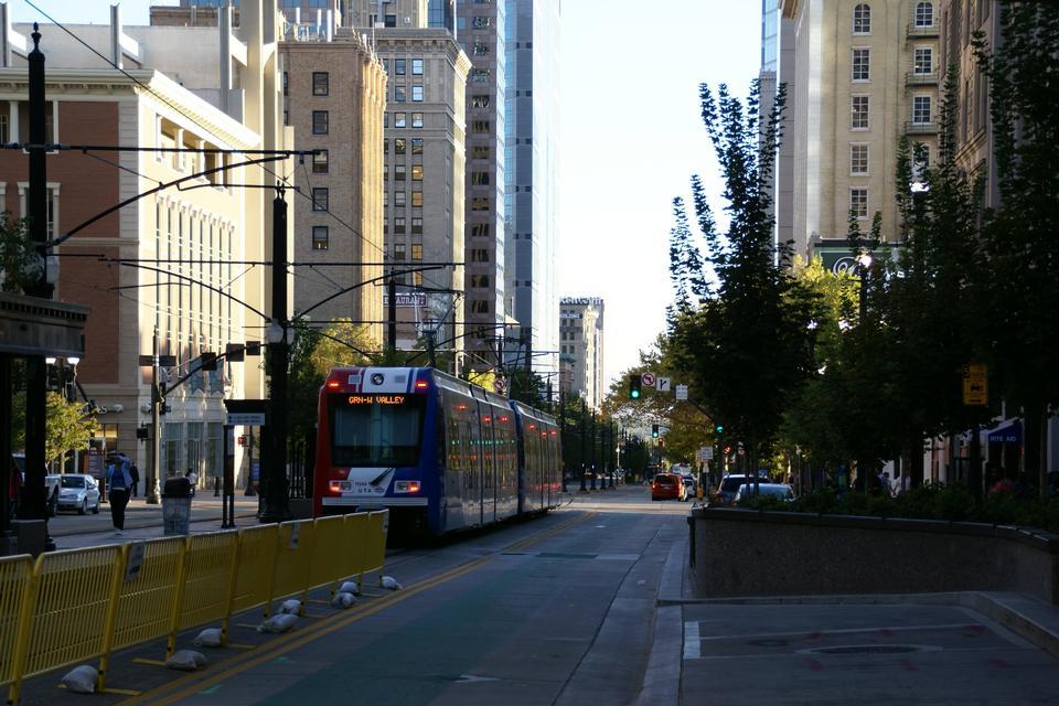 Free Tram at S Main Street in Salt Lake City, Utah
