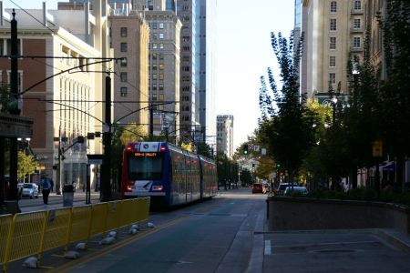 Free Tram at S Main Street in Salt Lake City, Utah