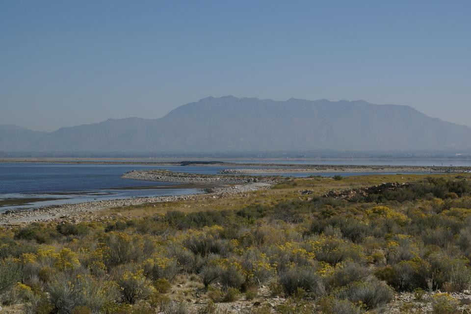 Free Great Salt Lake from Antelope Island, Utah