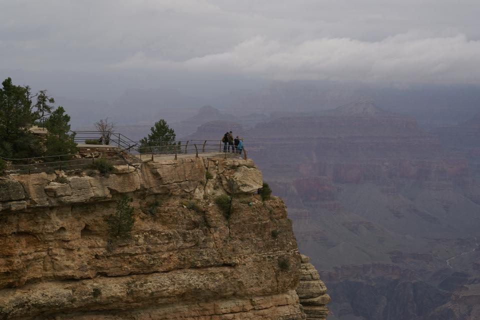 Free Mather Point in the fog, Grand Canyon, Arizona