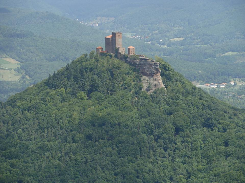Free View from the top of Zeller Horn to Hohenzollern Castle