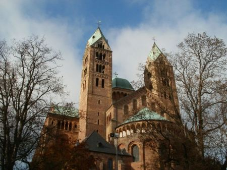 Free Church and blue sky in Germany