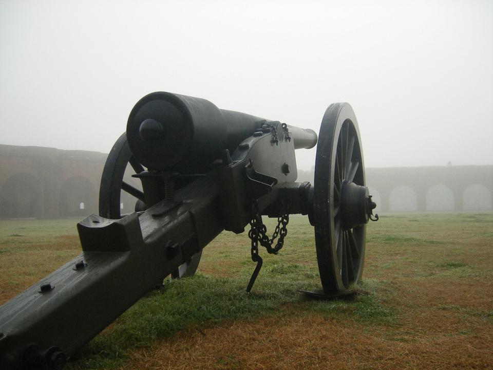 Free Parrott Rifle inside Fort Pulaski