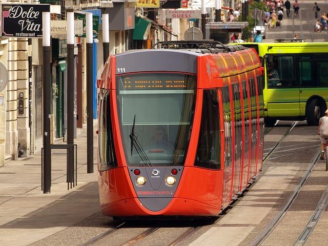 Free reims france tram shuttle vehicle railway