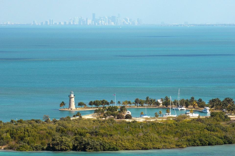 Free Boca Chita Key and the Miami Skyline