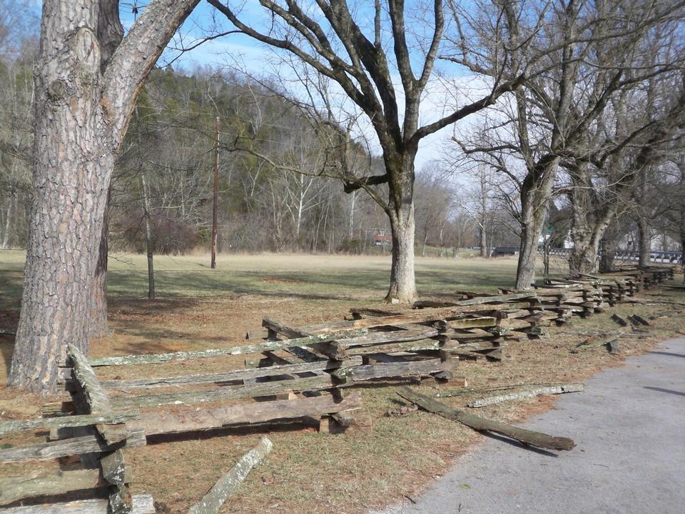 Free split rail fence at Abraham Lincoln Boyhood Hom