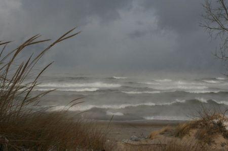 Free Whipping Waves of Lake Michigan