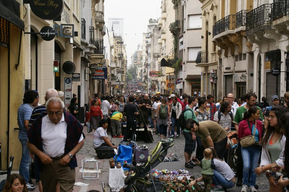 Free Flea market on Calle Defensa