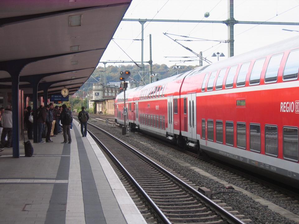 Free Main station in Bielefeld, North Rhine-Westphalia