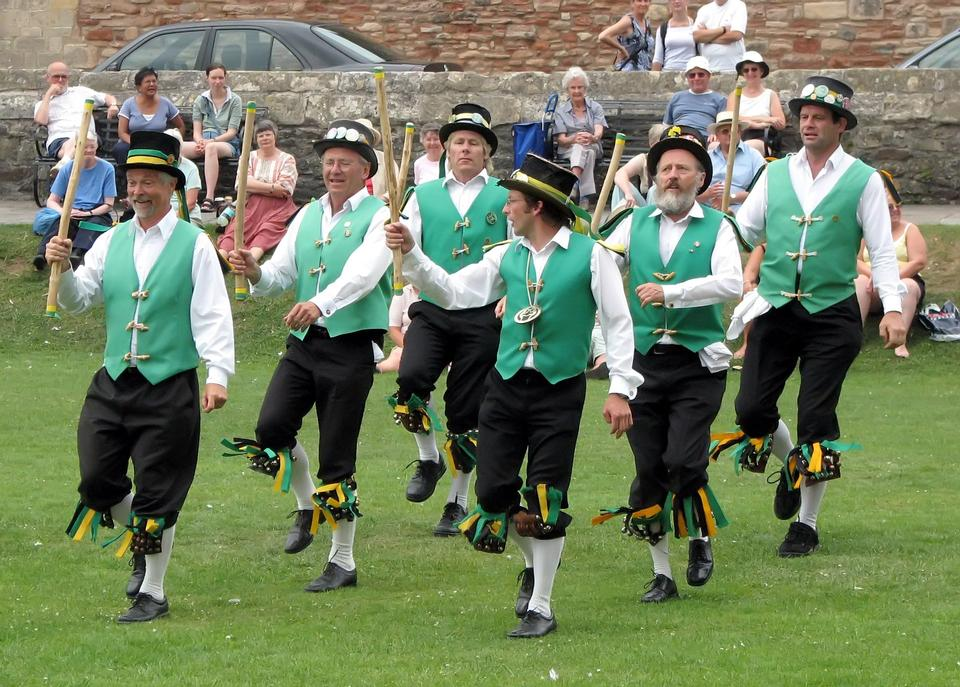Free Morris dancing in the grounds of Wells Cathedral