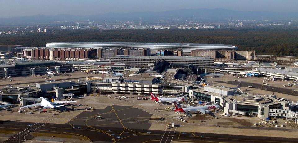 Free Aerial View of Frankfurt Airport