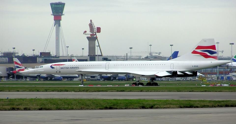 Free Concorde G-BOAB in storage at Heathrow airport