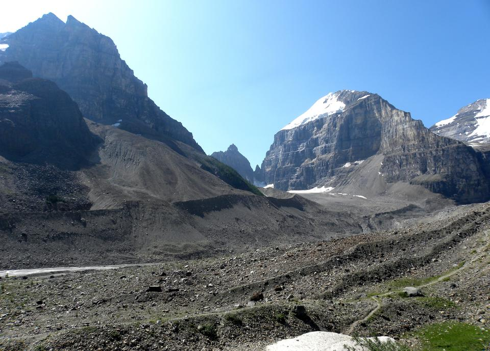 Free Glacial moraines above Lake Louise, Alberta, Canada