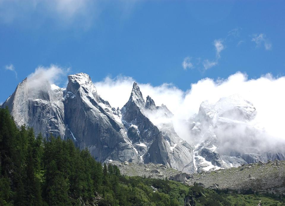 Free Sciora peaks, Graubunden Swiss
