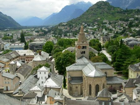 Free Old town and cathedral of Sion Switzerland