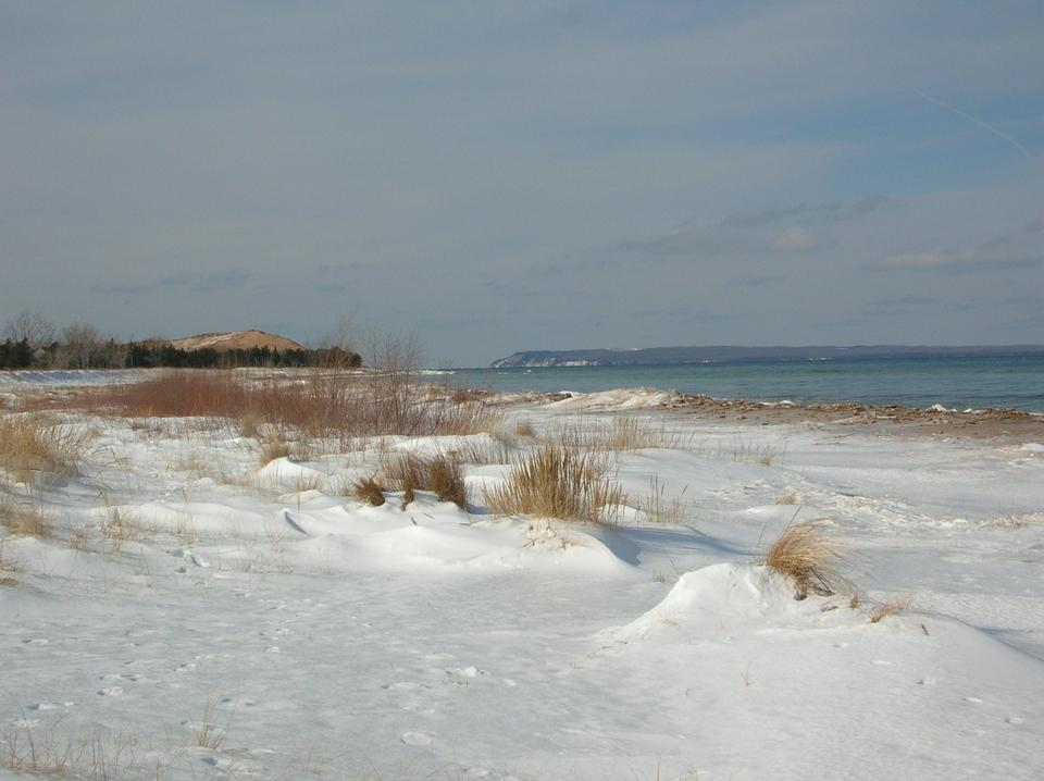 Free Glen Haven Beach in Winter