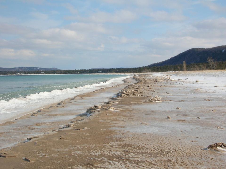 Free Glen Haven Beach in Winter