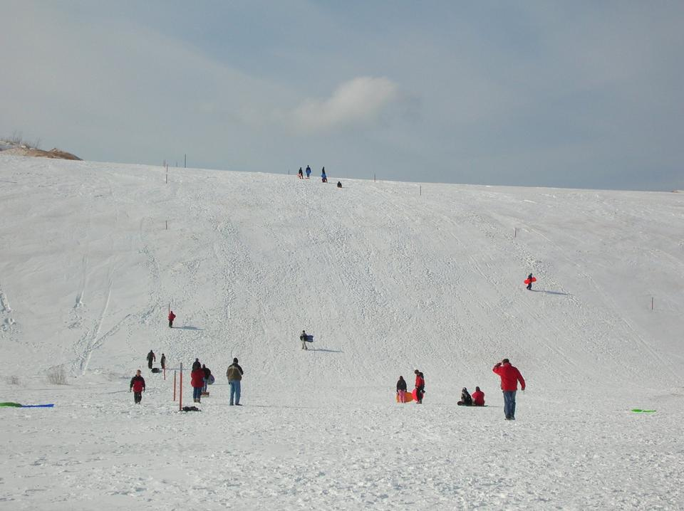 Free Sledding at the Dune Climb