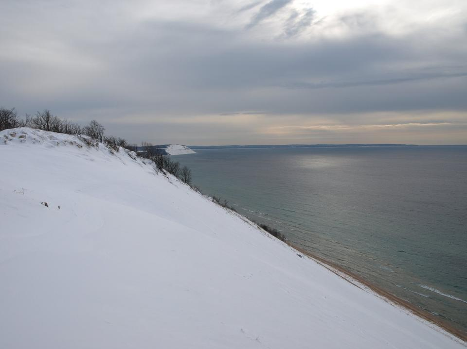 Free Lake Michigan and Bluffs in Winter