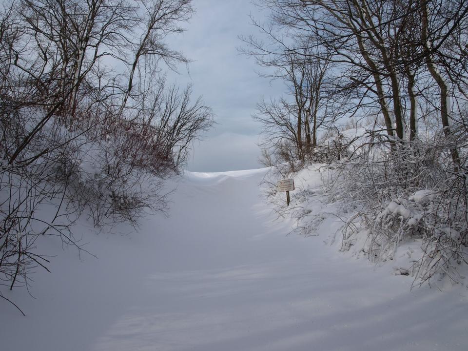 Free Winter at Lake Michigan Overlook