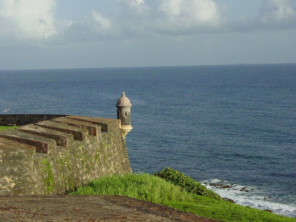 Free Landscape of of a Garita and the Ocean Puerto Rico