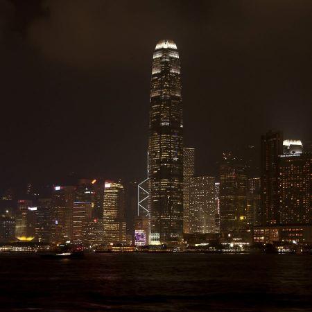Free Hong Kong night view of skyline