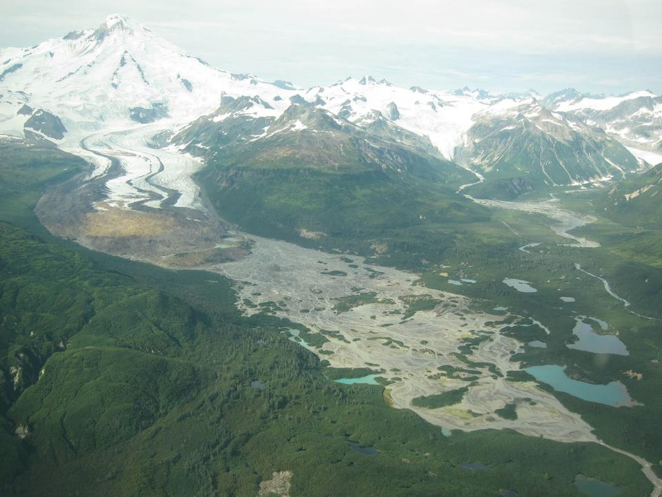 Free Red Glacier on Iliamna Volcano.