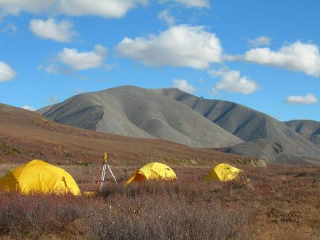 Free camp in beautiful fall Kobuk Valley National Park