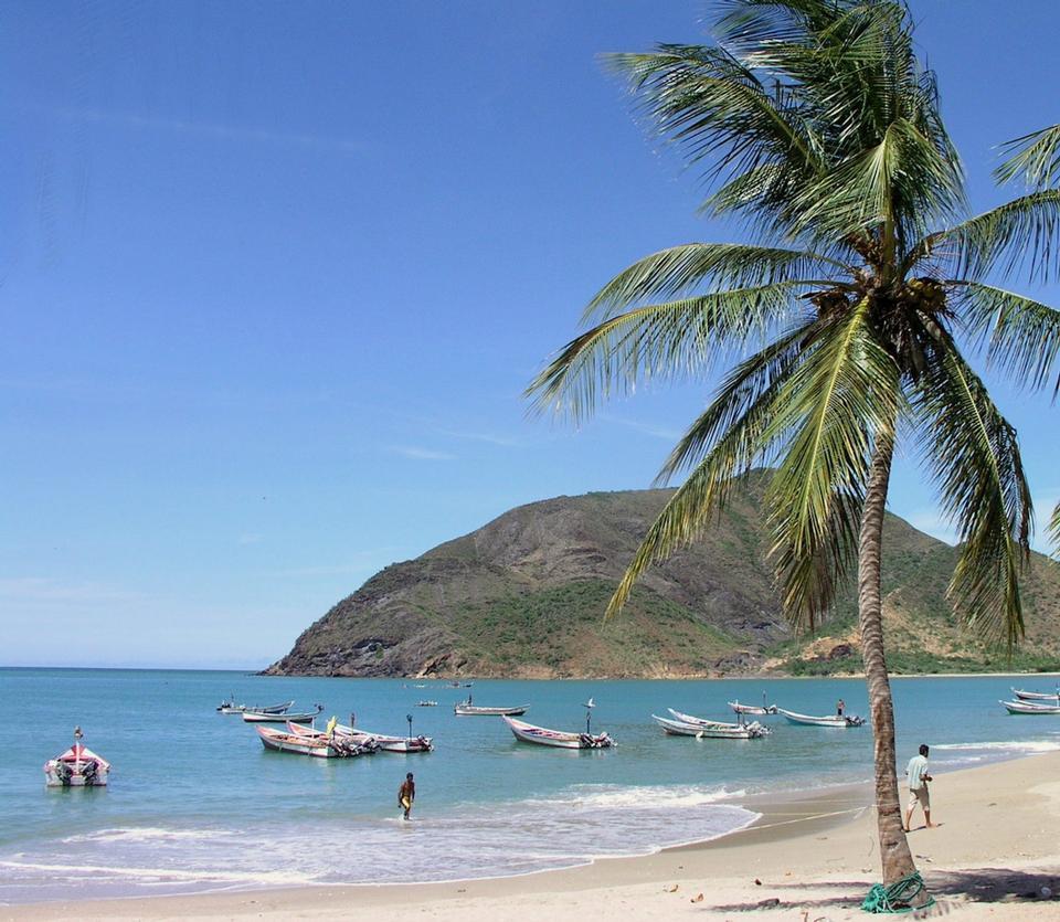 Free Beach of island Venezuela