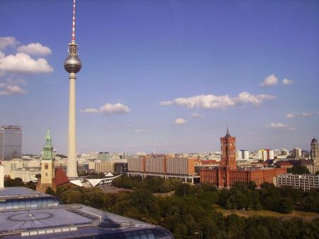 Free Panoramic view over Berlin at morning