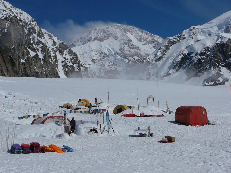 Free Basecamp on the Southeast Fork of the Kahiltna Glacier