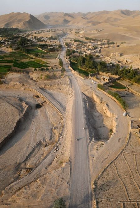 Free A typical small village cluster in Kandahar Province, Afghanistan