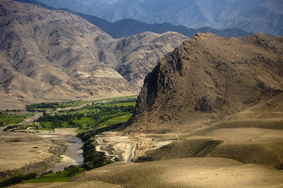 Free Afghanistan, view from the surrounding mountain