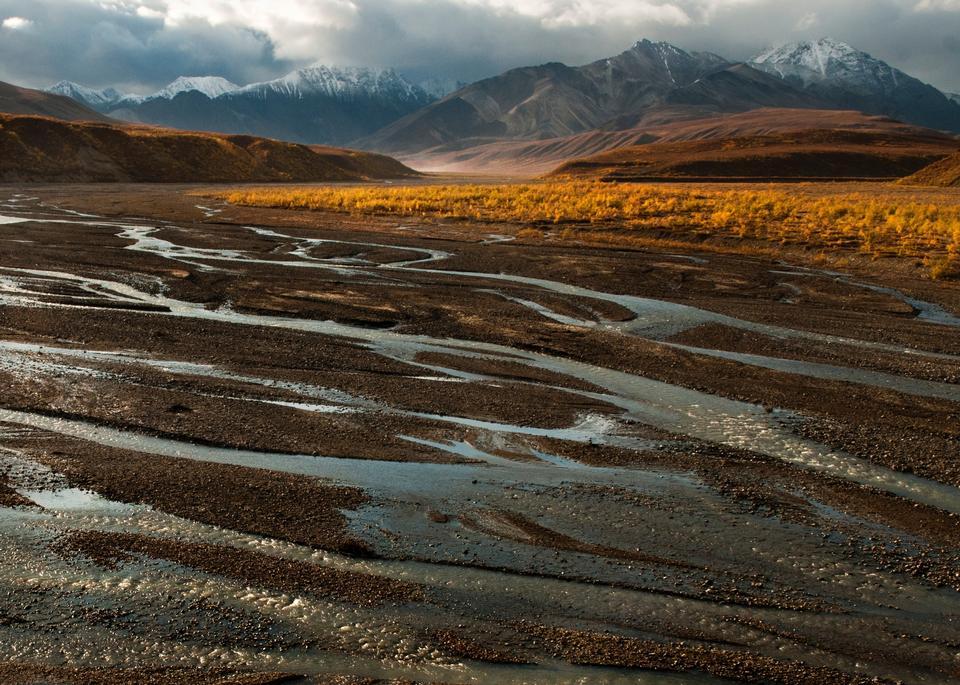 Free East Fork River, Polychrome Mountains Denali National Park