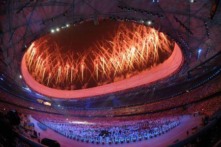 Free Fireworks Beijing China Olympics Opening Ceremony