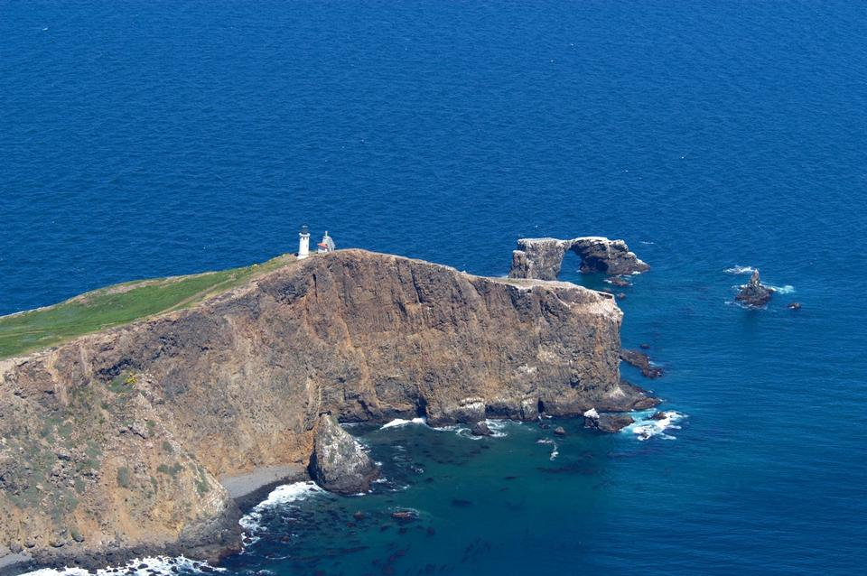 Free Anacapa Island aerial view