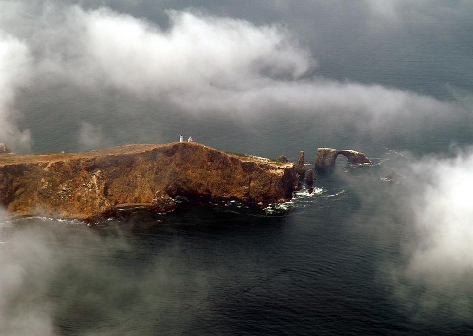 Free Natural Arch near Anacapa Island in California