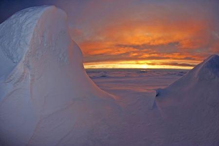 Free Beautiful icebergs drifting in Iceland
