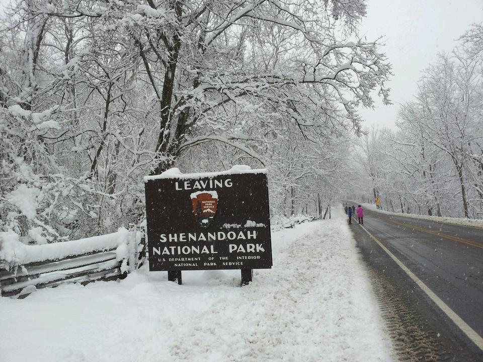 Free Shenandoah National Park Sign Board